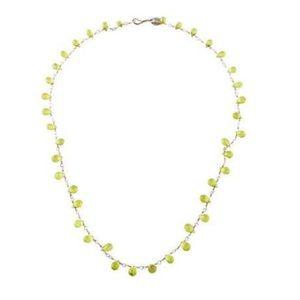 Me & Ro Teardrop Necklace 10K w/ Vesuvianite Beads